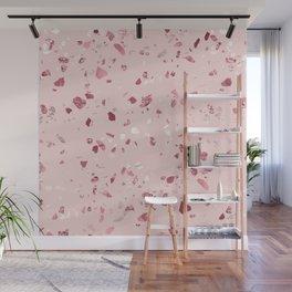 Pink Quartz Glitter Terrazzo Wall Mural