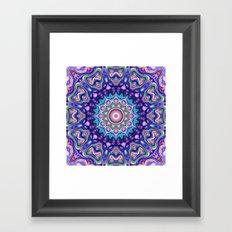 Circular Spectral Kaleidoscope Framed Art Print
