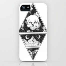 Geometric Skull Mountain Range Design iPhone Case