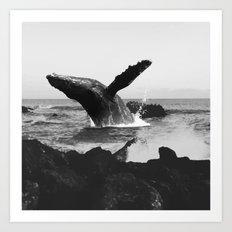whale Wave Art Print