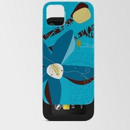 Blue Saucer Magnolia iPhone Card Case