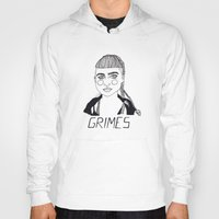 grimes Hoodies featuring Grimes by ☿ cactei ☿