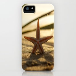 #Starfish #Still #life on the #summer #beach in #sunset iPhone Case
