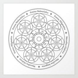 Sir Issac Newton's Philosopher's Stone (b/w) Art Print