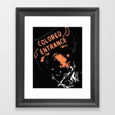 COLORED ENTRANCE Framed Art Print