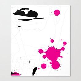 Magenta Abstract Rick Genest Canvas Print