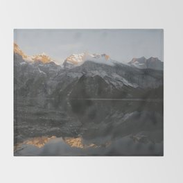 Mirror Mountains - Landscape Photography Throw Blanket