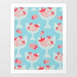 Strawberry Dessert Art Print