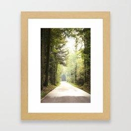 Weg durch den Wald Framed Art Print
