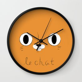 Le Chat (Orange) Wall Clock