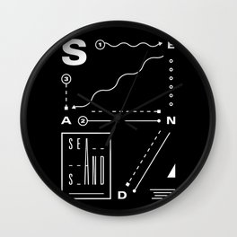 Sea And Sand Wall Clock
