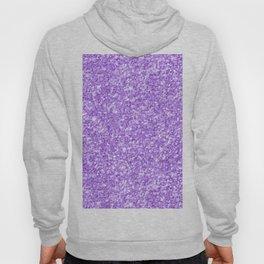Purple glitter & sparkles texture print Hoody