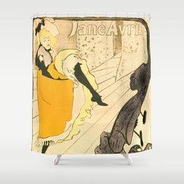 """Henri de Toulouse-Lautrec """"Jane Avril"""" Shower Curtain"""