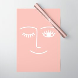 Wink / Pink Wrapping Paper