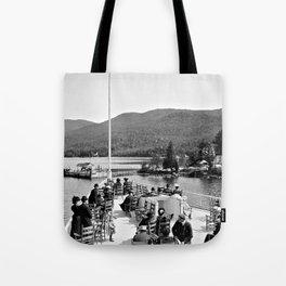Vintage Lake George: Huletts Landing Tote Bag