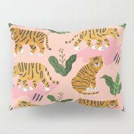 Vintage Tiger Print Pillow Sham