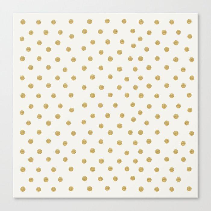 Gold Spots Canvas Print