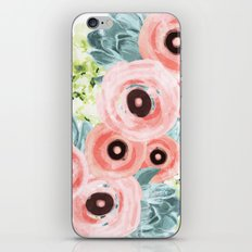 Ranunculus, Hydrangeas, Succulents iPhone & iPod Skin