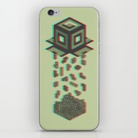 tetris iPhone & iPod Skins featuring Tetris by Delaney Digital