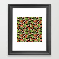 Strawberries Botanical Framed Art Print