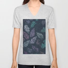 Abstract leaf painting Unisex V-Neck