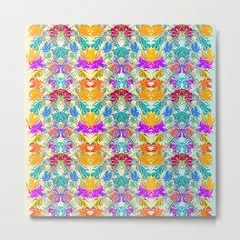 flowerpattern Metal Print