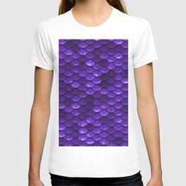 Beautiful grape purple mermaid fish Scales T-shirt