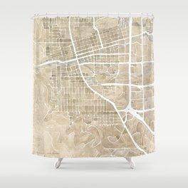 Boulder Colorado Watercolor Map Shower Curtain