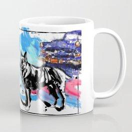 German Shepherd pop art Coffee Mug
