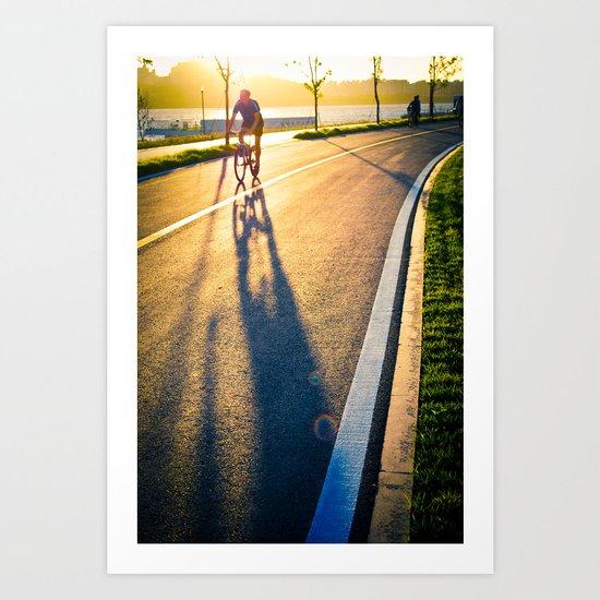 Seoul Cycling Art Print