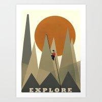 explore Art Prints featuring Explore by bri.buckley