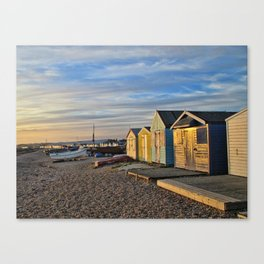 Sunkissed chalets Canvas Print