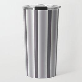 Gray Stripes Travel Mug