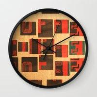 coffe Wall Clocks featuring Coffe - Vintage Drink by Fernando Vieira
