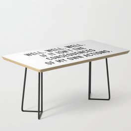 Consequences Coffee Table