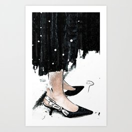 J'Adore girl Art Print