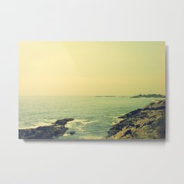 Sunday by the Sea Metal Print