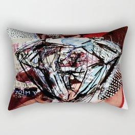 Diamond Head - Magazine Collage Painting Rectangular Pillow