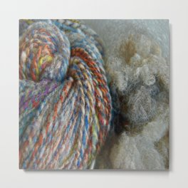 Fluffy Wool Metal Print