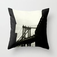 dumbo Throw Pillows featuring DUMBO by Camile O'Briant