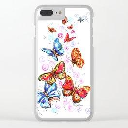 Butterflies Beautiful Butterflies Clear iPhone Case