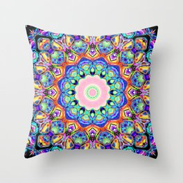 Abstract Spectral Pattern Throw Pillow