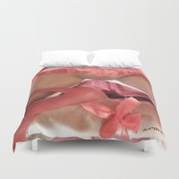bdsm Duvet Covers featuring funny painting Sex Fuck transgender gay bitch slut BDSM fetish sissy submissive owned fetish panty by Velveteen Rodent