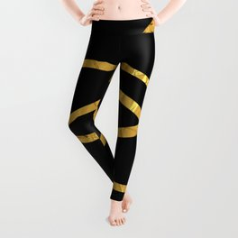 Golden Arcs - Abstract Leggings