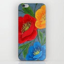 Poppies-3 iPhone Skin