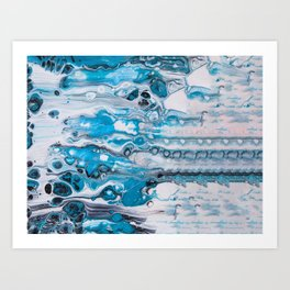 Ice Castles I Landscape Art Print