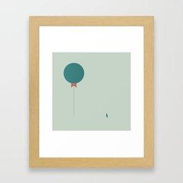 Papillon Hipster Baloon Framed Art Print