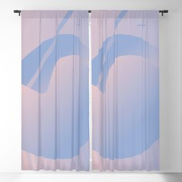 Abstract Gradient Centered (rose quartz + serenity) Blackout Curtain