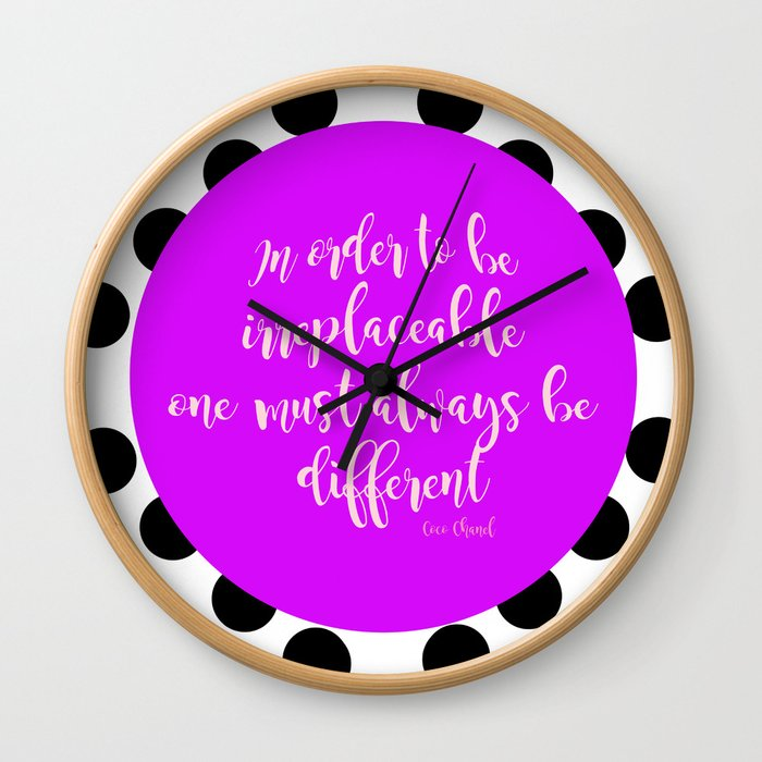 designer quote Wall Clock