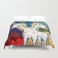 rare Duvet Covers featuring The Rare Bicorn by Taylor Winder